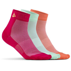 Craft Greatness Mid Socks 3-Pack jam/lime